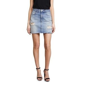 3x1 Celine Mini Denim Distressed Skirt 27